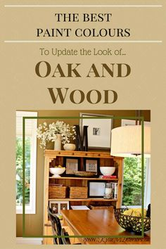 The best paint colours to update the look of oak and other wood stains. Kylie M Interiors Online Color Consultant Services