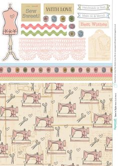 sweet sewing papers from paper craft inspirations