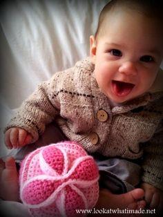 Crochet Baby Grab Ball