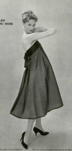 1958 Yves Saint Laurent 4 Christian Dior