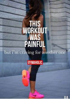 """This workout was painful ,but I'm craving for another one "" True dedication when ever you think that! It show how painful it is but you love every second of it ❤️"