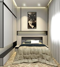 São Paulo - SP Projeto @triagonarq Small bedroom com piso wood herringbone @willianbelini #architecture #arquitectura #arquitetura…
