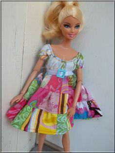 Barbie Doll Clothes Peasant Patchwork by BarbieBoutiqueBasics