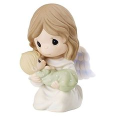 Precious Moments Angel Holding Baby Bereavement Figurine