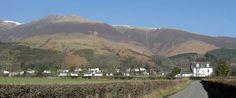 Croft House on the lane leading to Applethwaite village with Skiddaw behind