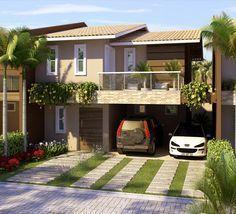 Awesome fachadas casas bonitas una planta gerardo for Idee portico coloniale