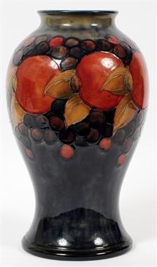 William Moorcroft Pottery Vase in 'Pomegranate' pattern