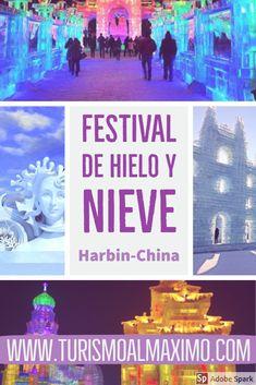 Si está buscando una aventura de invierno, ven al Festival de hielo y nieve en Harbin y disfruta de una experiencia inolvidable.  #turismoalmaximo #turismo #viajes #viajando #Asia #China #destinos #blogdeviajes #festival #Harbin