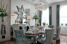 Contemporary Dining Room by Siobhan Loates Design Ltd