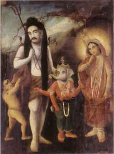 .Shiva and his family.