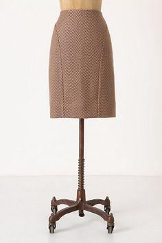 Kasuri Pencil Skirt #anthropologie