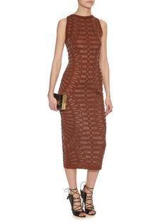Balmain Spine intarsia-knit dress