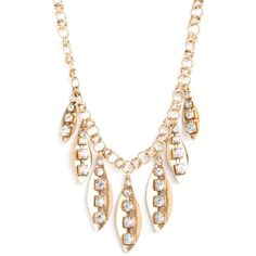 Ice Leaf Necklace ($32) ❤ liked on Polyvore