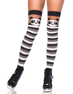 147d52d494b04 FaeryNiceThings : Adult Party Panda Striped Thigh Highs 6917 Leg Avenue,  Thigh Highs, Fashion