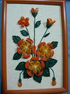 Tableau fleurs orange