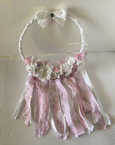 Deko-Objekte - Traumfänger rosa/weiss Shabby - ein Designerstück von gittirai bei DaWanda