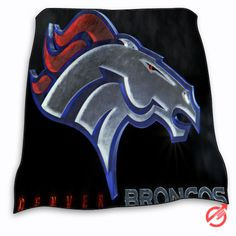New NFL DENVER BRONCOS LOGO Blanket