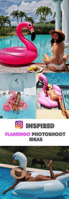 Instagram inspired Flamingo photoshoot ideas. Flamingo flatie, duck floatie, photoshoot inspiration, holidays, vacation photoshoot