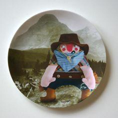 """Melaminteller Cowboy """"Billy the Kid"""" von herzensart auf DaWanda.com"""