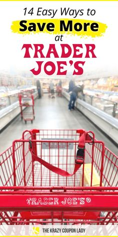 If you're searching for Trader Joe's recipes or the best healthy Trader Joe's shopping list, you're gonna want to read this first! The Krazy Coupon Lady has the tips you need for how to save money at Trader Joe's, because, TJ's can really get expensive if you're not careful. Now, there are some amazing Trader Joe's deals like Two Buck Chuck and fresh whole fruit, but there are other things that can cost up to 40% more than at your regular grocery store. Read on for the best money saving… Best Money Saving Tips, Saving Money, Candles For Less, Leftover Wine, Gourmet Cheese, Store Hacks, Get Free Stuff, Sale Flyer, Seasonal Food