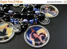 SUMMER SALE Sexy Witch Bracelet. Halloween Bracelet Beaded with Pinup Girl Witch Charms. Handmade Halloween Jewelry. by Gilliauna from Bits n Beads by Gilliauna. Find it now at http://ift.tt/2t68nAG!