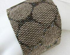 Color Study in White Peyote Cuff / Peyote Bracelet by SandFibers