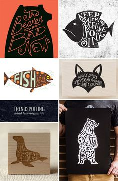 "Trendspotting : Hand Lettering ""Inside"" as seen on papercrave.com"