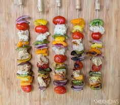 Chicken and summer vegetable kabobs plus more affordable grilling recipes