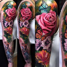 Flower Tattoo Sleeves Google Search Tattoo Ideas Tattoos