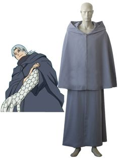 Naruto Yakushi Kabuto Integrates Orochimaru Uniform Cloth Cospla