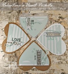 Tinkerin In Ink with Tanya: Valentine Countdown #2: Heart Pockets With January 2016 Paper Pumpkin, Stampin Up, Cute Conversations, Hearts framelits, vellum, kraft, stitching, valentine treat pouch