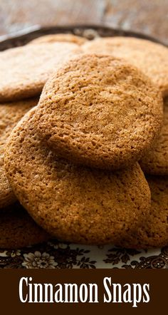 How To Make Tortilla Chips These Crispy Cinnamon Snaps Are Like A Cinnamon Explosion In Your Mouth, So Good Like Gingersnaps, But With Cinnamon. Cookie Recipes, Dessert Recipes, Desserts, Pastry Recipes, Photo Food, Ginger Snap Cookies, Simply Recipes, Free Recipes, Cookie Tray