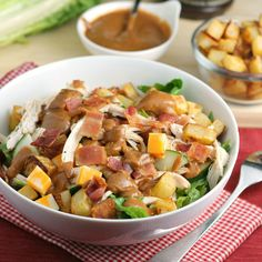 Dad doesn't want a plain bowl of lettuce to celebrate his big day. Thank him for all he does with a man-food salad loaded with meat, cheese, and more!