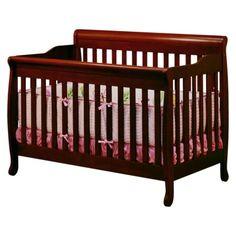 Athena Alice Convertible Crib with Toddler Rail - Cherry