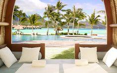 Four Seasons Resort Bora Bora.  #resort #holiday #romanticholiday #luxury #hotel #borabora #exoticdestination #luxurytoday