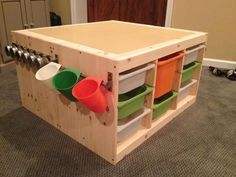 Lego Storage TableLego Play TableDiy Lego TableLego Building TableLego Activity TableToy StorageKids Play TableStorage For LegosBuilding Ideas. If there's one toy that no kid on the face of the Ea