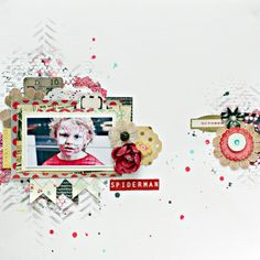 Made by Christin Gronnslett aka Umenorskan with the My Creative Scrapbook June Limited Edition with Crate Paper
