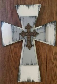 Layered Crosses...weddings, baptism, blessing, catechism,  birth,  birthday,  housewarming, by DoubleOakVintage on Etsy