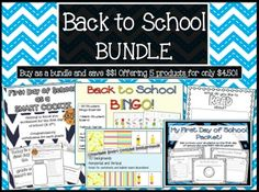 BACK TO SCHOOL BUNDLE - Save money right before you go back to school on some great products! Countless Smart Cookies on TeachersPayTeachers.com
