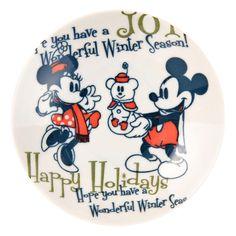Mickey & Minnie Christmas Wonderland Plate