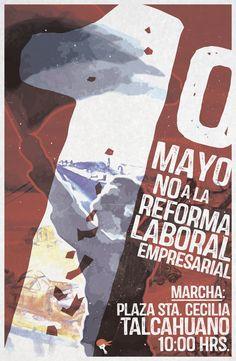 Panfleto 1ro de Mayo en Talcahuano
