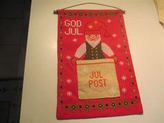 Fin handbroderad julbonad för julposten