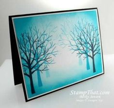 Stampin' Up! Sheltering Tree Technique Card