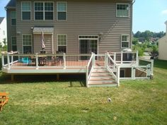 Image result for deck around basement stairs