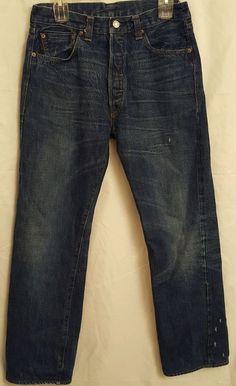 Levi's Big E Made in USA Jeans 1947 501 Selvedge 30x29 Button Stamp R  #Levis #ClassicStraightLeg