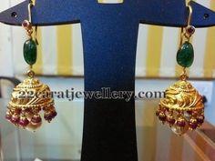 Bespoke handmade jewellery - handmade bracelets, neck pieces, rings and earrings Gold Jhumka Earrings, Jewelry Design Earrings, Gold Earrings Designs, Gold Jewellery Design, Bridal Jewellery, Cz Jewellery, Kids Earrings, Temple Jewellery, Antique Jewellery