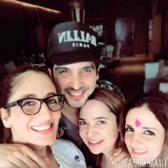 Zayed Khan, Sussanne Roshan and other sisters celebrating #Holi. #Bollywood #Fashion #Style #Beauty #Handsome