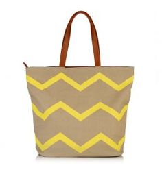 Zig Zag shopper bag. Great spring colours