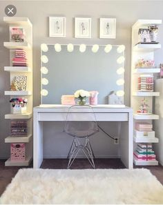 dream rooms for girls teenagers ~ dream rooms . dream rooms for adults . dream rooms for women . dream rooms for couples . dream rooms for girls teenagers . dream rooms for adults bedrooms Cute Room Decor, Teen Room Decor, Room Ideas Bedroom, Bedroom Desk, Room Decor Teenage Girl, Diy Home Decor Bedroom Girl, Diy Room Decor Tumblr, Teen Bedroom Furniture, Study Room Decor