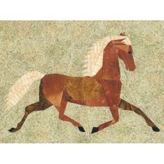Folk Art Horse Quilt Block Pattern